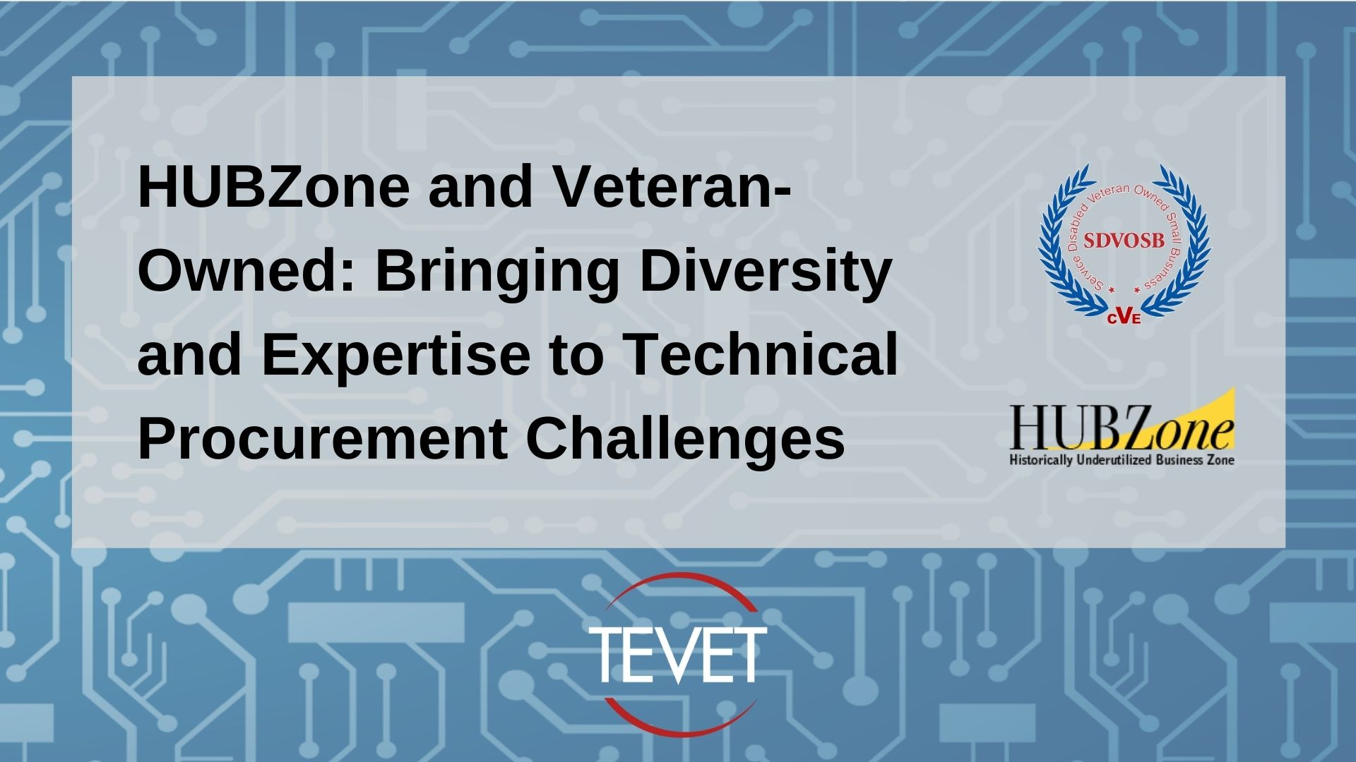 HUBZone and Veteran-Owned Bringing Diversity and Expertise to Technical Procurement Challenges