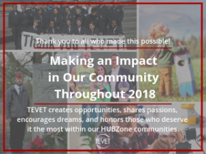 Making an Impact in Our Community - TEVET Thanks All Who Made It Possible in 2018