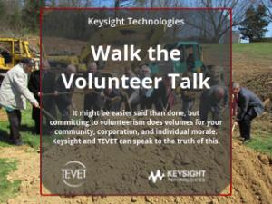 Walk the Volunteer Talk – Keysight Technologies and TEVET