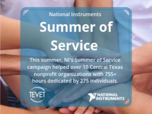 Summer of Service – National Instruments Promoting Volunteerism