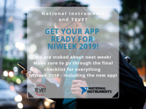 Get Your App Ready for NIWeek 2019 - TEVET's NIWeek Checklist