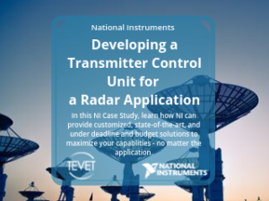 Developing a Transmitter Control Unit for a Radar Application – National Instruments
