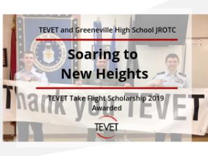 Soaring to New Heights - TEVET Take Flight Scholarship 2019