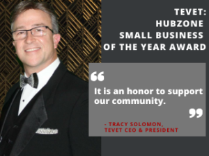 TEVET Honored with HUBZone Small Business of the Year Award