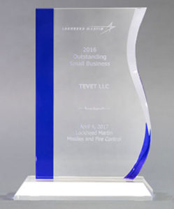 Lockheed Martin Missile and Fire Control Presents TEVET with the Outstanding Small Business Award