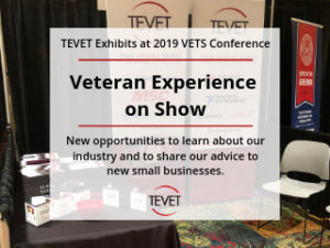 Veteran Experience on Show – TEVET Exhibits at 2019 VETS Conference